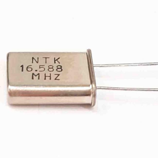 کریستال 16.588MHZ پایه دار، بسته بندی HC-49U