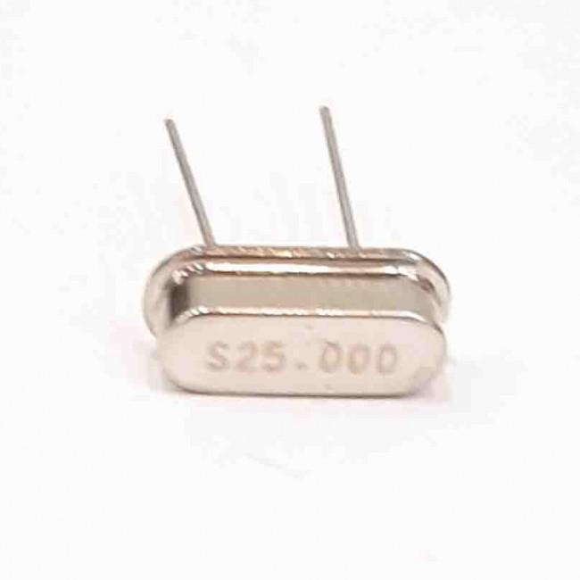 کریستال 25.000MHZ پایه دار، بسته بندی HC-49US