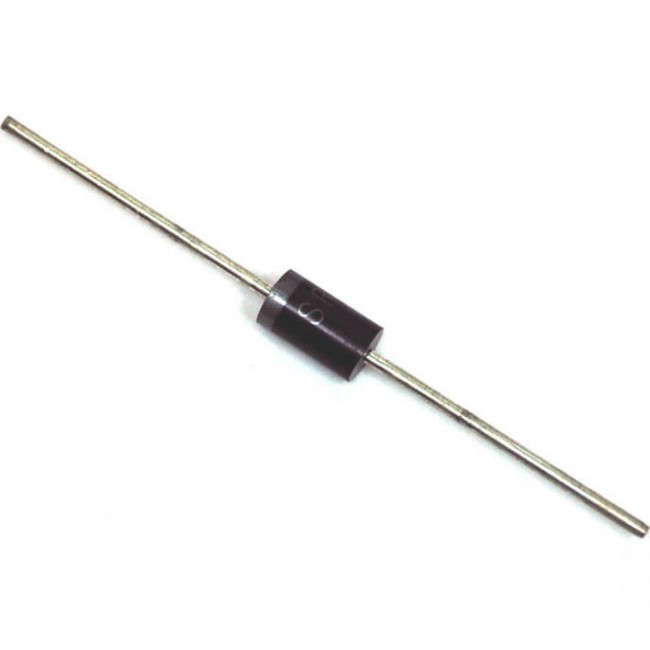 دیود شاتکی 1 آمپر 60 ولت، SB160 بسته بندی DO-41 (بسته 10 عددی)