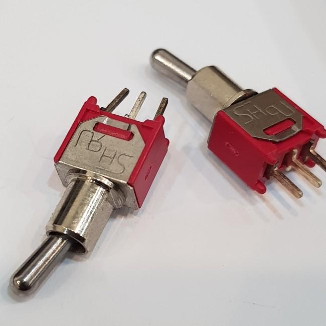 کلید کلنگی 3 پایه 3 حالته, 250 ولت, 3 آمپر، Toggle Switch SPDT 250V 3A