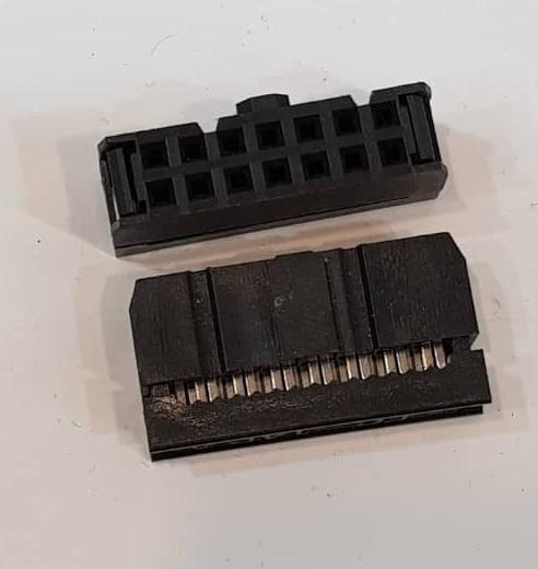 کانکتور آی دی سی 2x7 مادگی 2.54 میلیمتر، IDC Connector, 2x7 Female 2.54mm Pitch