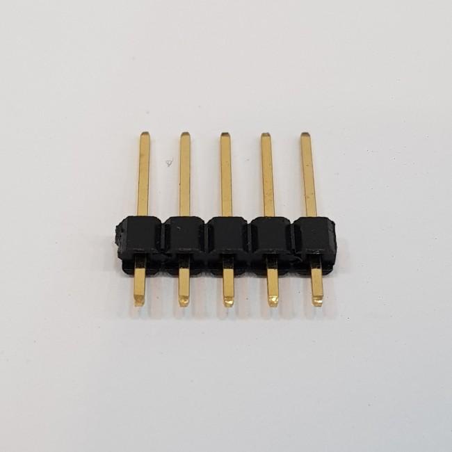پین هدر 1x5 نری صاف 2.54 میلیمتر (بسته 10 عددی). Pin header 1x5 male Straight 2.54mm Pitch (10pcs)