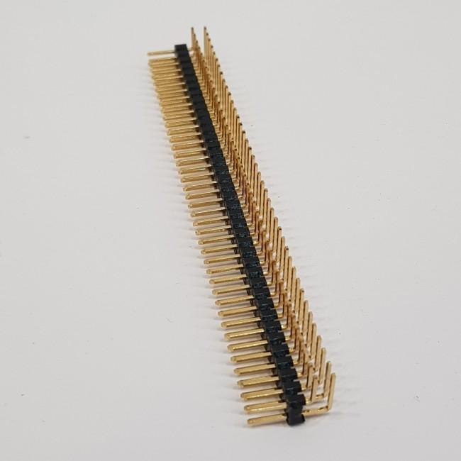 پین هدر 2x40 نری رایت 2.54 میلیمتر. Pin header 2x40 male Right angle 2.54mm Pitch