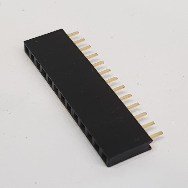 پین هدر 1x13 مادگی صاف 2.54 میلیمتر. Pin header 1x13 Female Straight 2.54mm Pitch