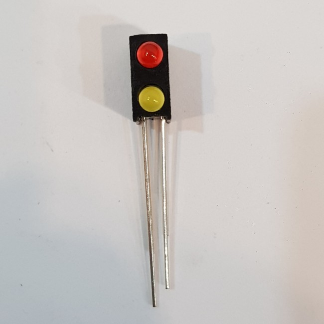 LED قابدار دوتایی (قرمز، زرد) , Right Angle 2 x 3mm RY LED