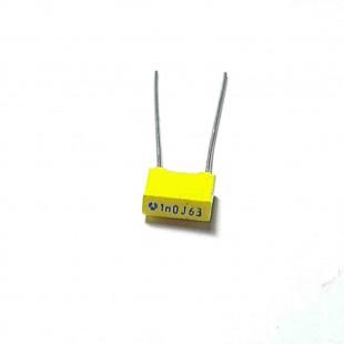 خازن ام کا تی MKT 1nF 63V ±5%  (بسته 10 عددی)