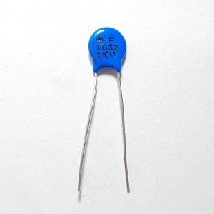 خازن عدسی سرامیکی 10nF 1kV (بسته 10 عددی)