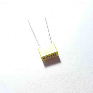 خازن ام کا تی MKT 10nF 63V ±10%  (بسته 10 عددی)
