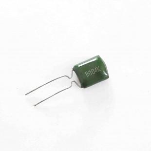 خازن پلی استر  100nF 50V ±10% (بسته 10 عددی)