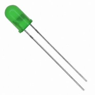 LED سبز 5 میلیمتر مات (بسته 10 عددی)