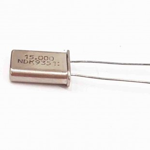 کریستال 15.000MHZ پایه دار، بسته بندی HC-49U