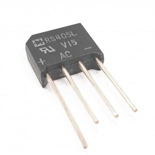 پل دیود شانه ای 600 ولت 4 آمپر، RS405L 600V 4A Briectifier
