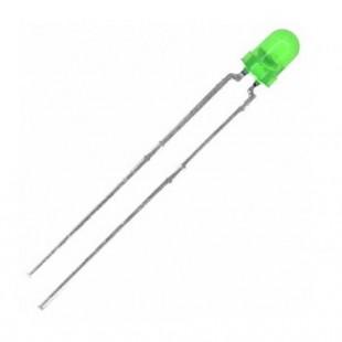 LED سبز 3 میلیمتر مات (بسته 10 عددی)