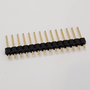 پین هدر 1x14 نری صاف 2.54 میلیمتر. Pin header 1x14 male Straight 2.54mm Pitch