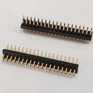 پین هدر 2x19 نری صاف 2.54 میلیمتر. Pin header 2x19 male Straight 2.54mm Pitch