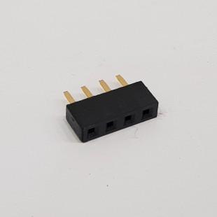 پین هدر 1x4 مادگی صاف 2.54 میلیمتر (بسته 5 عددی). Pin header 1x4 Female Straight 2.54mm Pitch (5pcs)
