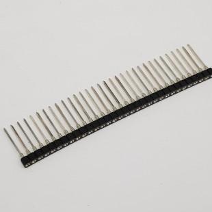 پین هدر نظامی پایه بلند 1x32 مادگی صاف 2.54 میلیمتر. Pin header Military 1x32 Female Straight 2.54mm Pitch