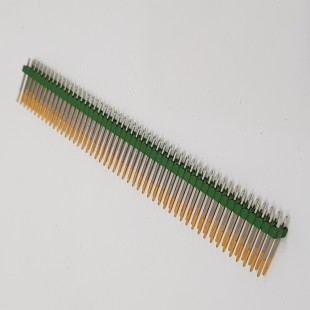 پین هدر 2x50 نری صاف پایه بلند 2.54 میلیمتر  . Pin header 2x50 male Straight Long 2.54mm Pitch