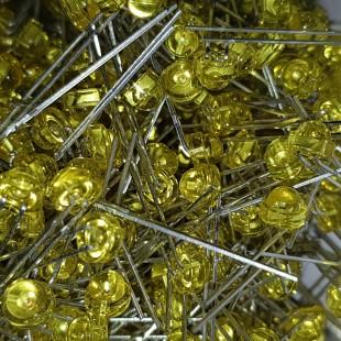 LED کلاهی زرد 5 میلیمتر شفاف رایت انگل (بسته 10 عددی)