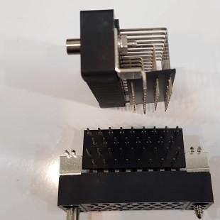 کانکتور وینچستر رایت انگل 34 پایه رو بردی , Winchester Cannector Right angle Female PCB mount