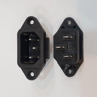 جک پاور AC نری پیچ خور, AC power input jack, male 300V 10A