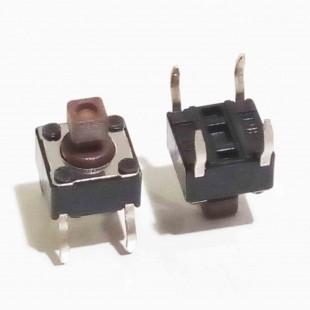 تک سوییچ کوچک 4 پایه کله خور،  ( بسته 5 عددی)، Tactile Switch 6x6x7.3 -4Pin