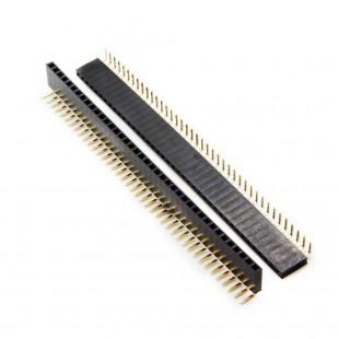پین هدر 1x40 مادگی رایت انگل 2.54 میلیمتر. Pin header 1x40 Female Right angle 2.54mm Pitch