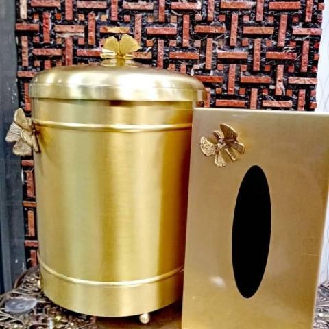 سطل و دستمال برنجی