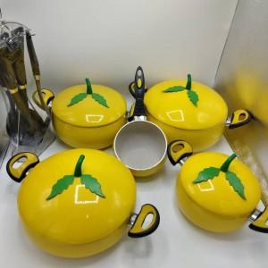سرویس قابلمه ۱۷ پارچه طرح میوه