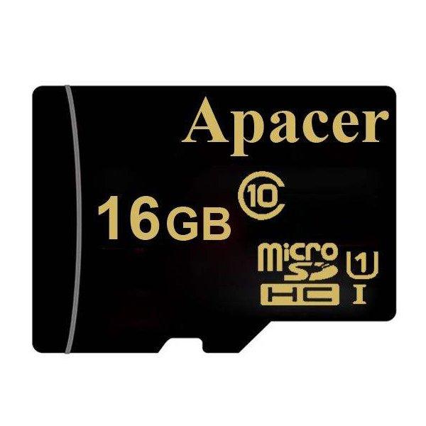 کارت حافظه microSDHC اپیسر مدل AP16GA کلاس 10 استاندارد UHS-I U1 سرعت 45MBps ظرفیت 16 گیگابایت