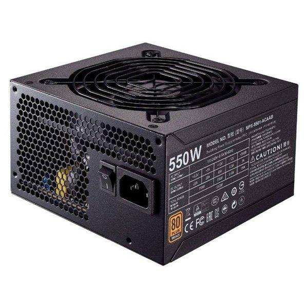 منبع تغذیه کامپیوتر کولر مستر مدل MWE Bronze 550