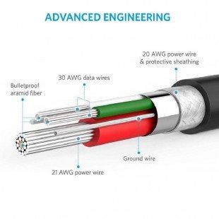 کابل تبدیل USB به لایتنینگ انکر مدل A8114 PowerLine طول 0.3 متر