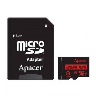 کارت حافظه microSDXC اپیسر کلاس 10 استاندارد UHS-I U1 سرعت 85MBps همراه با آداپتور SD ظرفیت 128 گیگابایت