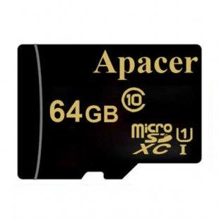 کارت حافظه microSDXC اپیسر مدل AP64GA کلاس 10 استاندارد UHS-I U1 سرعت 45MBps ظرفیت 64 گیگابایت