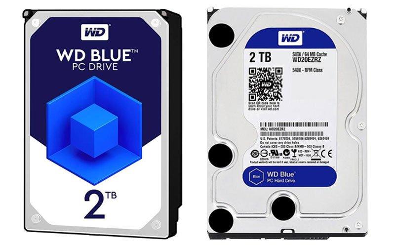 western 2tb wd blue 64m hard