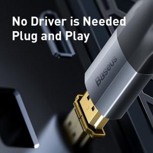 کابل مبدل دیسپلی پورت به اچ دی ام آی بیسوس Baseus Displayport to HDMI Cable 1m
