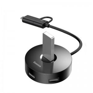 هاب 5 پورت Type C بیسوس Baseus Round Box Hub Adapter USB 3.0 CAHUB-GA01 طول 1 متر
