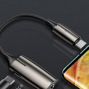 مبدل تایپ سی به تایپ سی و صدا بیسوس Baseus Type-C To Type-C&3.5MM Adapter L60