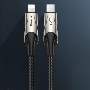 کابل شارژ سریع تایپ سی به لایتنینگ بیسوس Baseus Fish Eye Type-C to Lightning Cable 1M