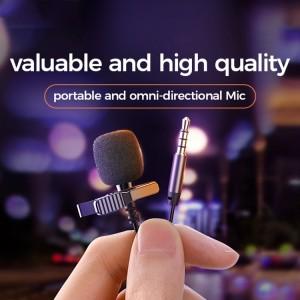 میکروفون سیم دار جویروم Joyroom Lavalier Microphone JR-LM1 3.5mm Jack 3M طول 3 متر