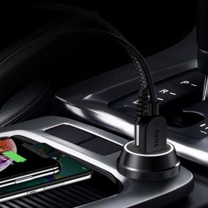 شارژر فندکی دو پورت فست شارژ توتو Totu Armour Series Fast Car Charger DCCPD-01
