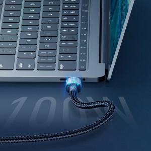 کابل آهنربایی دوسر تایپ سی سریع بیسوس Baseus Zinc Magnetic Type-C Cable 1.2m