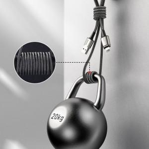 کابل مگنتی سه سر بیسوس Baseus Zinc Magnetic Cable Kit TZCAXC-A01 توان 2.4 آمپر طول 1 متر