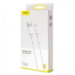 کابل شارژ سریع میکرو یو اس بی بیسوس Baseus Mini White Micro USB Cable 2m