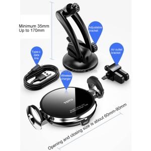پایه نگهدارنده هوشمند و شارژر وایرلس توتودیزاین Totu Design CACW-037 Star Lord series 2 Wireless Charger Car Mount
