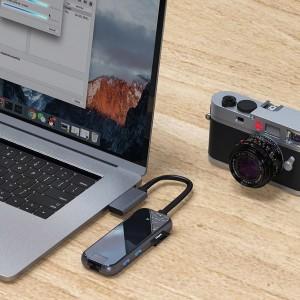 هاب چندکاره Baseus Type C MultiFunctional  Adapter CAHUB-FZ0G مناسب برای MacBook Pro / Air