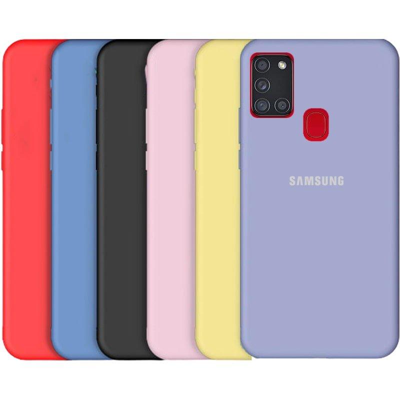 قاب گوشی Samsung Galaxy A21S سیلیکونی اورجینال پاک کنی مدل پایین باز صددرصد ضد لک ساخت ویتنام