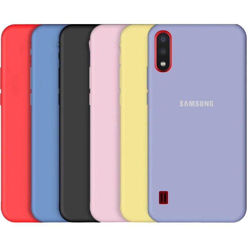 قاب گوشی Samsung Galaxy A01 سیلیکونی اورجینال پاک کنی مدل پایین باز صددرصد ضد لک ساخت ویتنام