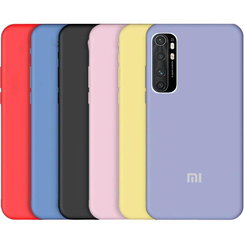 قاب گوشی Xiaomi MI Note 10 Lite سیلیکونی اورجینال پاک کنی مدل پایین باز صددرصد ضد لک ساخت ویتنام