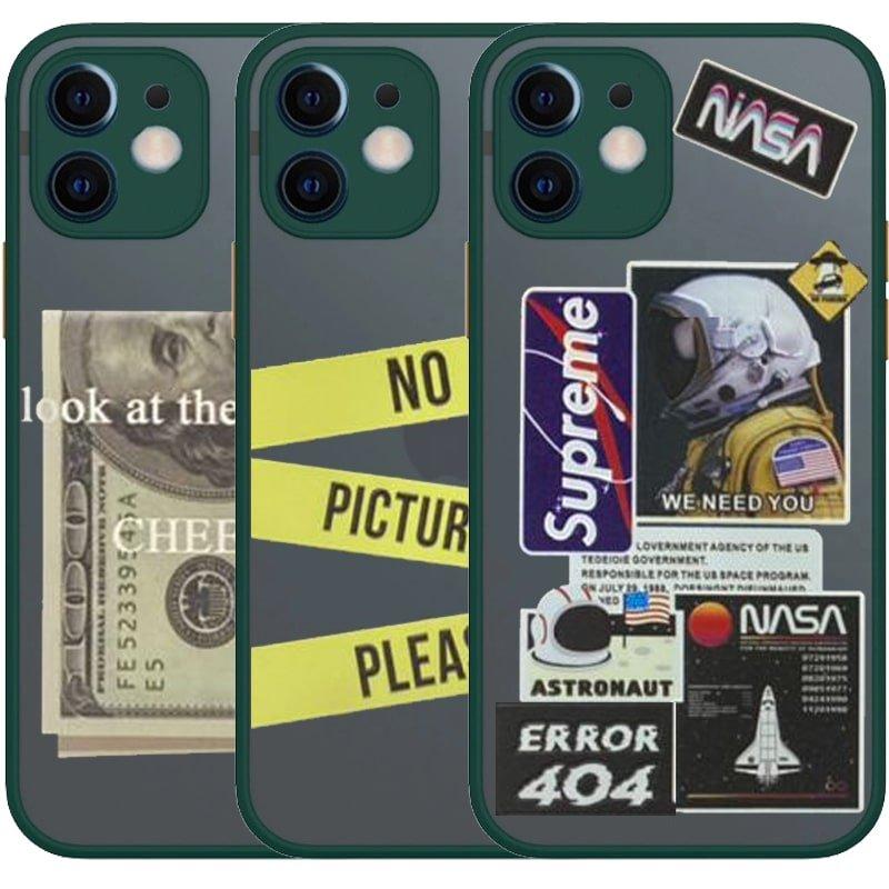 کاور فانتزی هیبریدی مناسب برای گوشی IPHONE 12 mini مدل پشت مات محافظ لنزدار سری طرحدار پسرانه